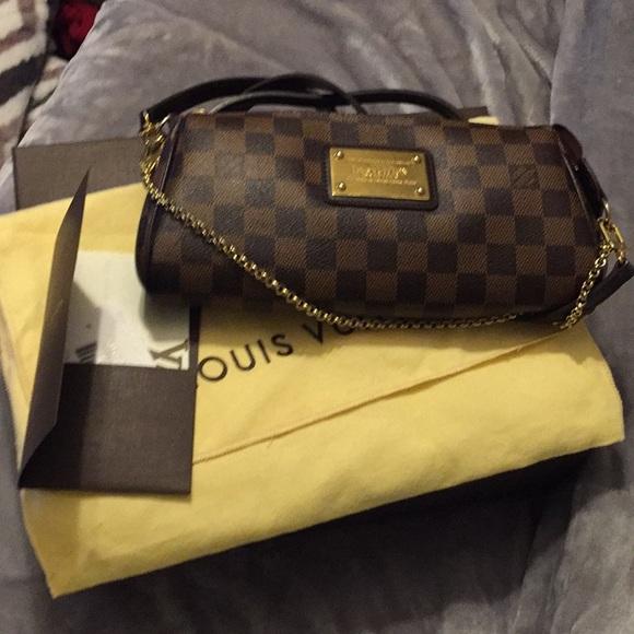 a831a0b4a015 Louis Vuitton Handbags - Authentic Louis Vuitton Eva Clutch Damier Ebene